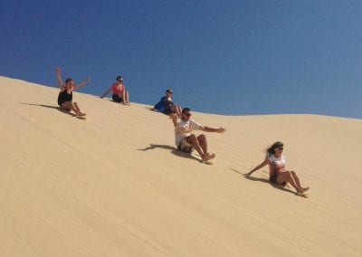 High res Sand boarding up