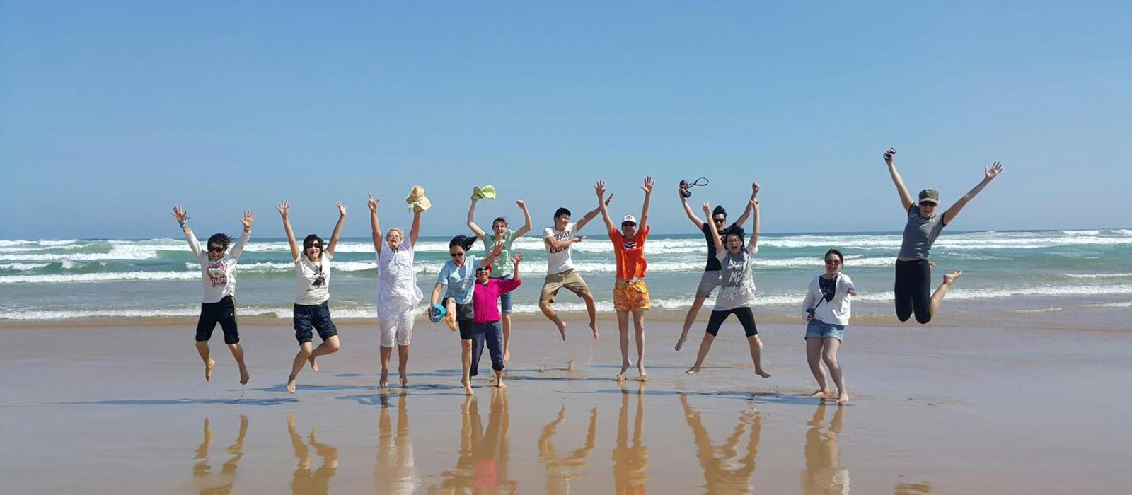 Family having a great time at Sand Dune Safaris